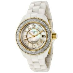 Swiss Legend Women's 20051-WWWGR Karamica White High Tech Ceramic Diamond Watch Swiss Legend. $380.50. White mother-of-pearl dial with gold-tone hands and roman numerals; gold-tone stainless steel unidirectional bezel with 116 white diamonds set on bezel (1.04 ctw); white cabochon screw-down crown. Date function. Water Resistant to 100 M (330 Feet). Swiss Quartz Movement. Scratch-resistant sapphire crystal; white high tech ceramic case and bracelet. Save 81%!