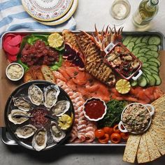 This seacuterie board is sure to make a splash at your next dinner party. From shrimp and seaweed salad to octopus and oranges, have fun with your favorite seafood and side bites. Then present them on a sheet pan for easy serving. Plus, learn how to shuck your own oysters.