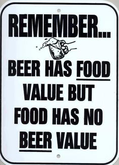 Food Value and beer value.