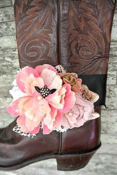 Cowgirl boot accessories cowboy boot bling by TrueRebelClothing, $28.00. Bridesmaids wear