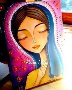 Diy Canvas Art, Acrylic Painting Canvas, Fabric Painting, Watercolor Paintings, Indian Folk Art, Pintura Country, Arte Popular, Mexican Art, Art Journal Inspiration
