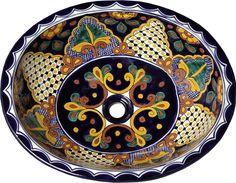 Mexican Tile - Mexican Talavera Sink - San Miguel