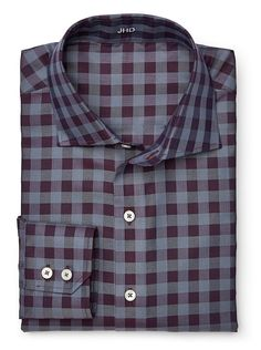Charcoal/Berry Large Check | J.Hilburn 2015 Fall Collection