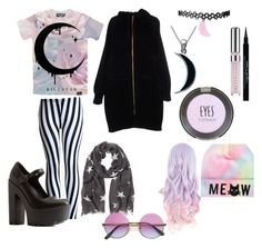 """""""Untitled #21"""" by theunikraken on Polyvore featuring Carolina Glamour Collection, Charlotte Russe, Moschino Cheap & Chic, Chantecaille, Topshop and Givenchy"""