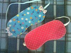 Máscara de dormir confeccionada em feltro. Varios modelos e cores a combinar. R$ 10,00