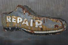 Original Vintage 'Shoe Repair' Sign @ ClevelandArt LA