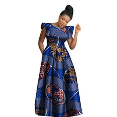 Top Ankara outfit for you - Ankara Lovers African Dashiki Dress, African Wear Dresses, African Attire, African Inspired Clothing, African Print Fashion, Afrocentric Clothing, Ankara Long Gown Styles, African Design, Party Dress