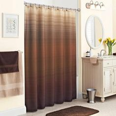 Better Homes and Gardens Ripple Ombre Fabric Shower Curtain - Walmart.com