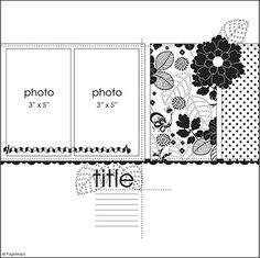 DCWV Diary: August Stack-a-holic Template Challenge Scrapbook Layout Sketches, Scrapbook Templates, Card Sketches, Scrapbook Albums, Scrapbook Cards, Scrapbook Photos, Map Sketch, Page Maps, Picture Layouts