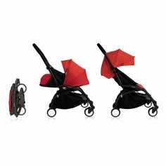 Babyzen Yoyo 0 & 6+ 2016 Complete Stroller - Black With Red – Little Baby