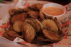 Hooters Fried Pickles - This Website has ALL kinds of CopyCat Recipes from ALL your Favorite Restaurants!  Wow.......
