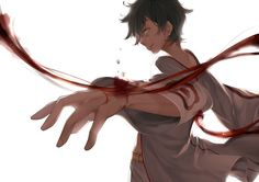 Toto Sakigami ( Deadman wonderland) just watched this, during my period...it was hilarious.