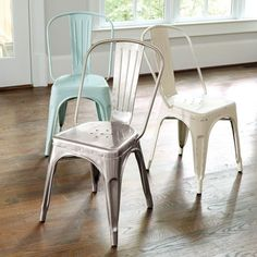 Marian Metal Chairs with Cushions - Set of 2