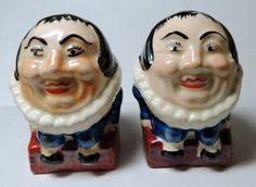 Vintage 1930-1940 Porcelain Humpty Dumpty Salt & Pepper Shakers