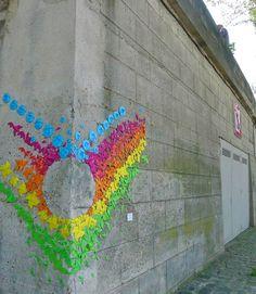 Mademoiselle Maurice - Origami Street Art 2012