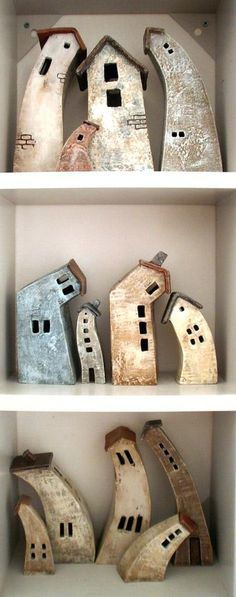 World in my eyes ceramic houses by Vesna Gusman