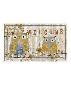 Look at this Welcome Owls Indoor/Outdoor Doormat on #zulily today!