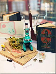 Whelp I found my wedding theme.  Science Themed Wedding, Biology Centerpieces, Dallas Wedding, Dallas Wedding Planner