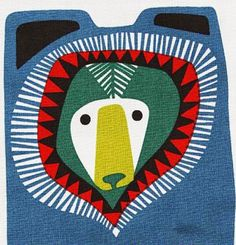 Today's posts are all about paying tribute to the amazing work of for We start with one of Sanna's latest prints for the Finnish fabric legends called 'Kukuluuruu' (meaning 'peek a boo') Marimekko, Peek A Boo, Scandinavian Folk Art, Bear Illustration, Arte Popular, Mundo Animal, Kids Prints, Art Nouveau, Art Deco