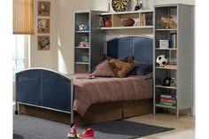 Hillsdale Platform Storage Bed With Bookcase Headboard