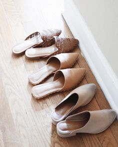 Neutral  | I noticed a theme happening in my entryway. I clearly have a thing for beige, and brown mules.