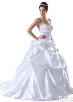 Faironly  New Custom Design Strapless Wedding Dress Size:6 8 10 12 14 16 +