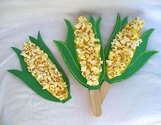 Popcorn Collage- great idea for classroom art project!