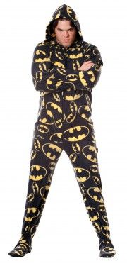 I love Batman, but adult mens footie pj's with hoodie?  I don't know how I feel about this one . . .