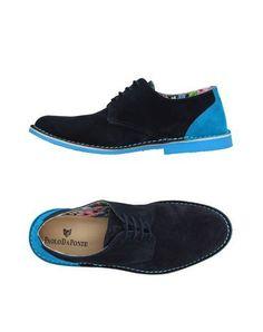 PAOLO DA PONTE Men's Lace-up shoe Dark blue 11 US