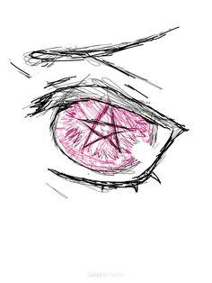 ciel eye doodle. no reference so it probs sucks