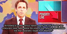 Poverty line: The invisible line that separates Target from Walmart.