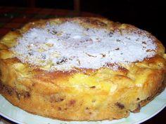 Suroviny: Cesto: 11 dkg maslo 15 dkg cukor 2 ks vajíčko 1 bal. vanilkový cukor 20 dkg múka 1,5 čl prášok na pečenie Štipka soli 2,5 dl jogurt/smotana Krém: 4 jablká 2 čl škorice 10 dkg orechy 10 dkg ( hnedý cukor ) Predpríprava krému: Jablko očistíme anakrájame na kocky. Orechy narežeme na malé kúsky, zmiešame scukrom aso škoricou. Príprava
