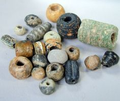 21 OLD ANTIC PATINED PERSIAN 500 BC CERAMIC &GLASS BEADS 5 TO 19 MILLIMETER | eBay