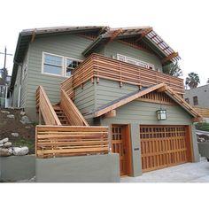 horizontal wood railings
