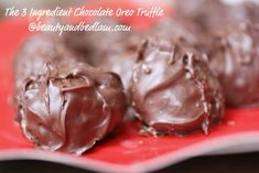 Easy Chocolate Oreo Truffles:   Three Ingredient Delight