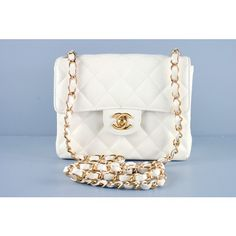 Chanel White Quilted Caviar Mini Classic 2.55 Flap Bag - Bags | Portero Luxury