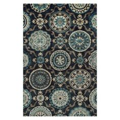 Superior Abner Collection with 10mm Pile and Jute Backing, Moisture Resistant and Anti-Static Indoor Area Rug, Black