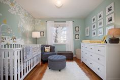 mint nursery with nursing chair