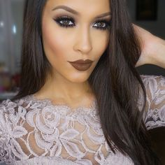 Beautiful lip colour and contour