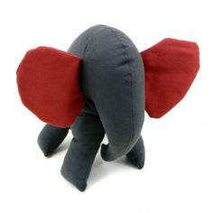 Red and Gray Elephant Large