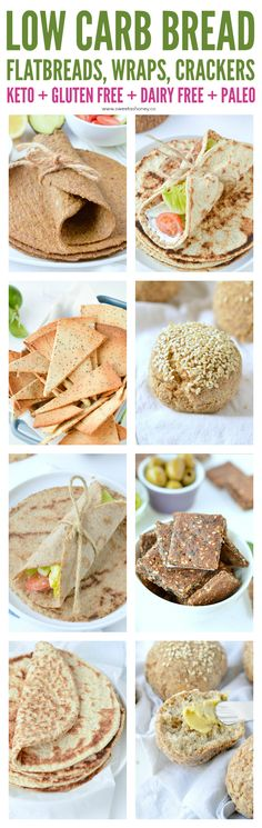 flaxseed meal recipes Low carb bread - keto bread recipes made with almond flour coconut flour psyllium husk or flaxseed meal. Easy homemade recipes: flatbread buns wraps and mor Flax Seed Recipes, Almond Recipes, Coconut Flour, Almond Flour, Bread Starter, Best Keto Bread, Low Carb Flour, Lowest Carb Bread Recipe, Easy Homemade Recipes