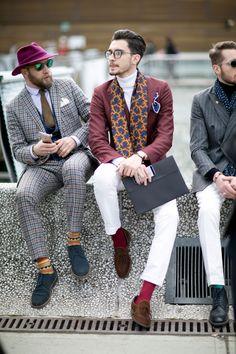 Street fashion: Firenze Pitti Uomo jesień-zima 2016/2017, fot. Imaxtree
