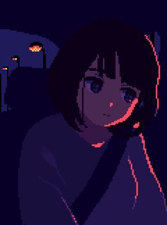Anime Pixel Art, Anime Art, How To Pixel Art, Pix Art, Pixel Animation, 8 Bit Art, Trash Art, Cute Anime Pics, Anime Scenery