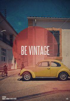 Foto collectie maken, enkele uitspraak in bol. Be Vintage!