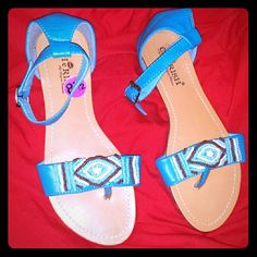 Really cute sandals My daughter put them on a couple of times but that was it didn't like them so she gave them to me and now I'm selling them :-) CheRush Shoes Sandals