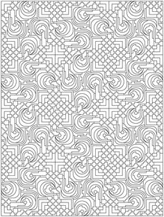 Colouring-in page - sample from 'Creative Haven 3-D Techellations Coloring Book' via Dover Publications ~s~