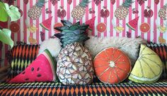 This season designers have taken inspiration from the fruit and vegetable counter. From pineapples to cabbages, it's never been easier to get your five a day... For a fruity theme,Cherry pendant lamps, from £815, are available as single, double or triple clusters. Or,Jonathan Alder has designed banana bud vase, from £48, in gold or cream.