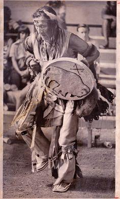 Henry Crow Dog - S.Dakota Sioux - White Buffalo .Tatanka Ska. Ceremony, Roosevelt, S.D. 1975