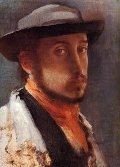 Autoportrait Degas au chapeau mou 1857