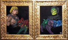 Pictures of in-gallery installation of Castle Greyskull. If you are interested in purchasing anything from this show, fee. Velvet Painting, Pop Culture Art, Under The Influence, Black Velvet, Pop Art, Gallery, Masters, Artwork, Castle